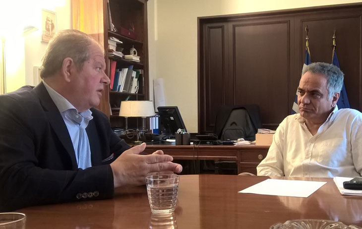 Άρτα: Συνάντηση του Δημάρχου Νικολάου Σκουφά με τον Υπουργό Εσωτερικών