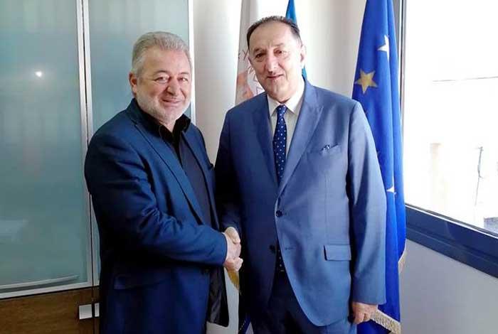Ήγουμενίτσα: Συνάντηση Δημάρχου Ηγουμενίτσας Με Τον Νέο Πρόεδρο Της Πανηπειρωτικής Συνομοσπονδίας Ελλάδος