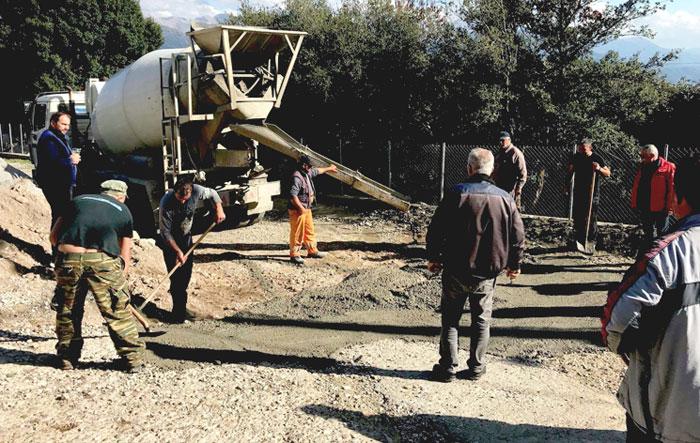 Άρτα: Μεσόπυργος - Εργασίες αποκατάστασης εσωτερικού οδικού δικτύου